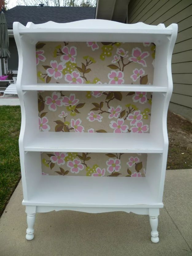 DIY Bookshelf Ideas - Girly Bookcase Makeover - DYI Bookshelves and Projects - Easy and Cheap Home Decor Idea for Bedroom, Living Room - Step by Step tutorial #diy #diyideas #diydecor #homedecor