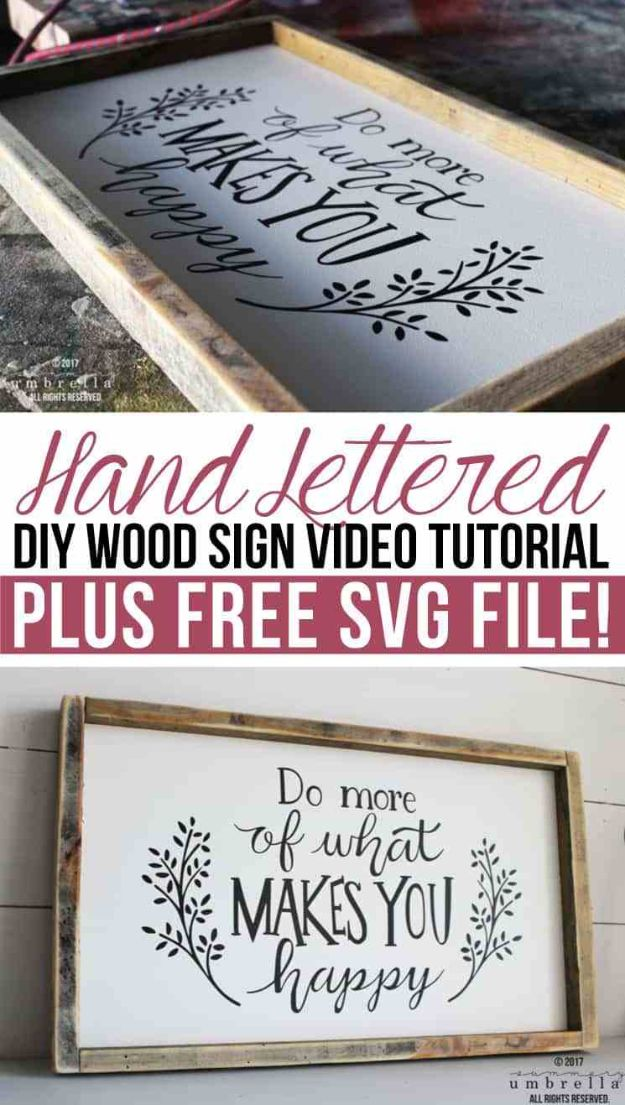 DIY Signs To Make For Your Home | Hand Lettered DIY Wood Sign - Rustic Wall Art Ideas and Homemade Sign for Bedroom, Kitchen, Farmhouse Decor | Stencil Pallet and Distressed Vintage