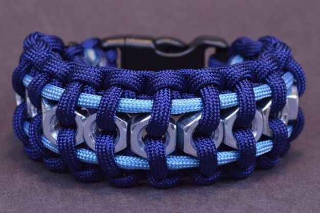 DIY Paracord Bracelet Ideas - Hex Nut Paracord Bracelet - Tutorials for Easy Woven Paracord Bracelets   Survival and Stitched Patterns With Instructions and How To