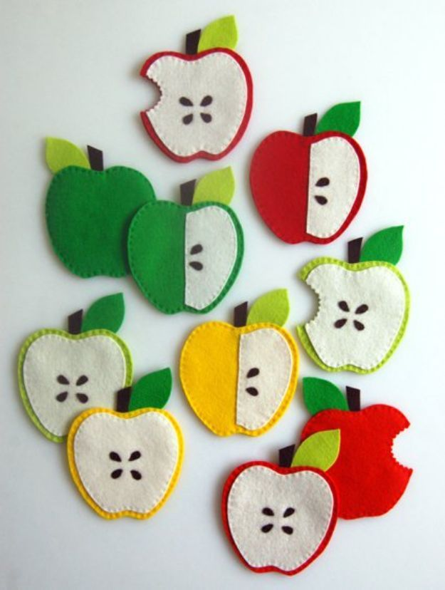 DIY Apple Crafts | Homemade Apple Coasters - Cute and Easy DIY Ideas With Apples - Painting, Mason Jars, Home Decor