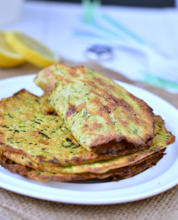 Recipes for Clean Eating - Homemade Zucchini Tortillas - Raw and Whole Foods, Unprocessed Meal and Snack Ideas for Lunch and Dinner - Fresh, Healthy Foods and Recipe Ideas