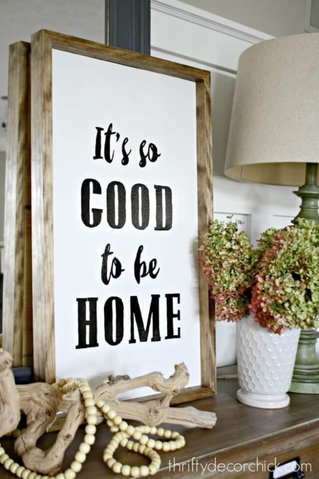 DIY Signs To Make For Your Home | Its Good to be Home Sign - Rustic Wall Art Ideas and Homemade Sign for Bedroom, Kitchen, Farmhouse Decor | Stencil Pallet and Distressed Vintage
