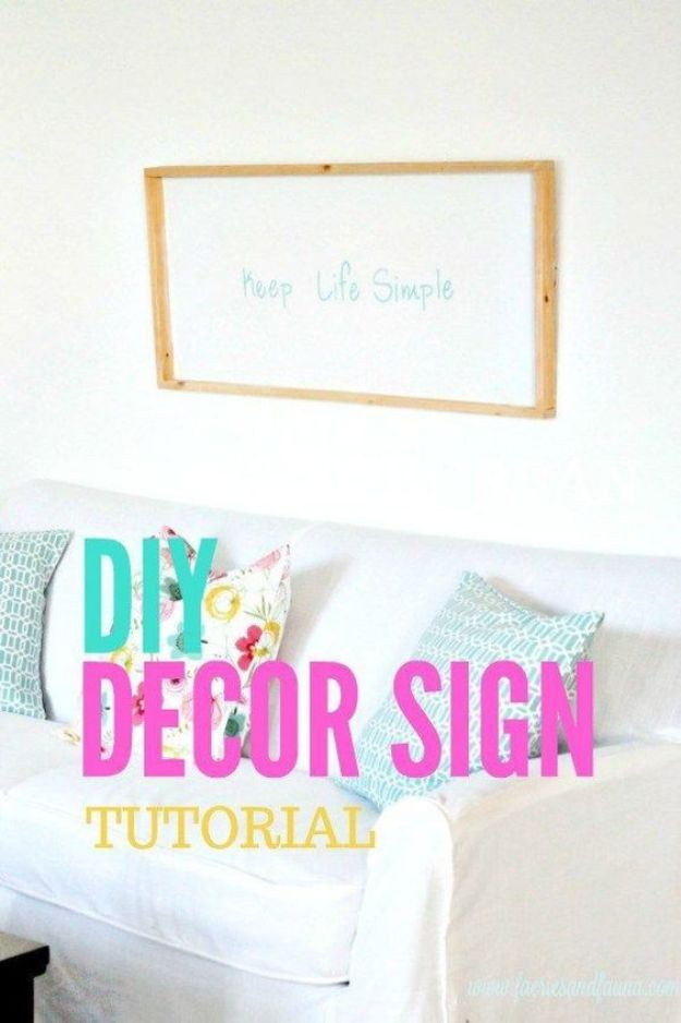 DIY Signs To Make For Your Home | Keep Life Simple DIY Sign - Rustic Wall Art Ideas and Homemade Sign for Bedroom, Kitchen, Farmhouse Decor | Stencil Pallet and Distressed Vintage