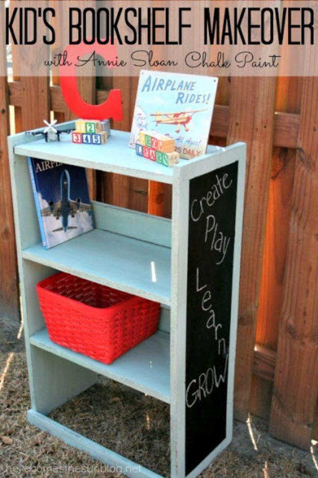 DIY Bookshelf Ideas - Kid's Bookshelf Makeover - DYI Bookshelves and Projects - Easy and Cheap Home Decor Idea for Bedroom, Living Room - Step by Step tutorial #diy #diyideas #diydecor #homedecor