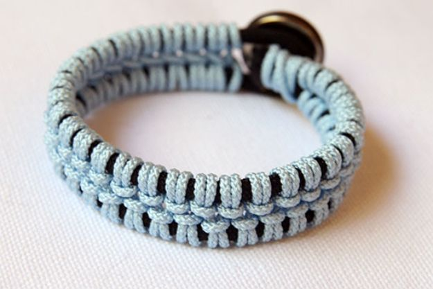 DIY Paracord Bracelet Ideas - Lacey Macrame Paracord Bracelet - Tutorials for Easy Woven Paracord Bracelets | Survival and Stitched Patterns With Instructions and How To