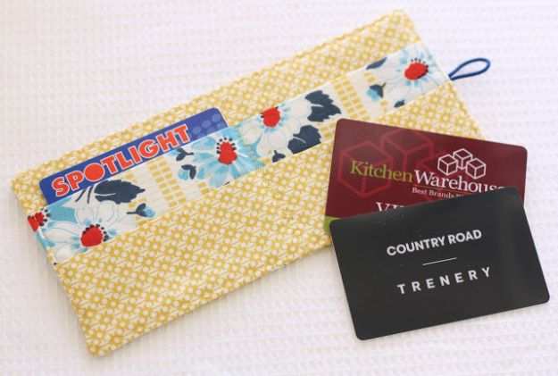 DIY Wallets - Loyalty Card Wallet - Cool and Easy DIY Wallet Ideas - Fabric, Duct Tape and Leather Crafts - Tutorial and Instructions for Making A Wallet - Cheap DIY Gifts