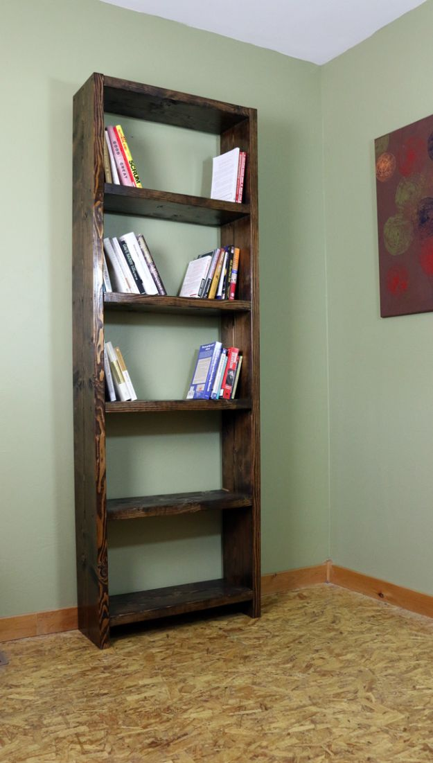 DIY Bookshelves - Make A Bookshelf For $60 - Easy Book Shelf Ideas to Build for Cheap Home Decor - Tutorials and Plans, Best IKEA Hacks, Rustic Farmhouse and Mid Century Modern