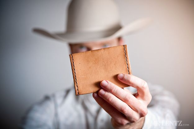 DIY Wallets - Make A Simple Leather Wallet - Cool and Easy DIY Wallet Ideas - Fabric, Duct Tape and Leather Crafts - Tutorial and Instructions for Making A Wallet - Cheap DIY Gifts