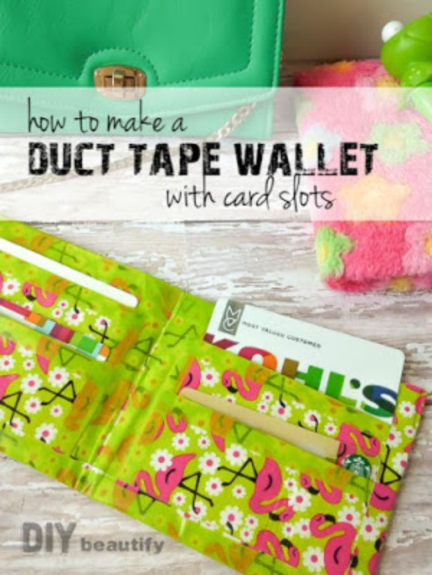 DIY Wallets - Make a Duct Tape Wallet - Cool and Easy DIY Wallet Ideas - Fabric, Duct Tape and Leather Crafts - Tutorial and Instructions for Making A Wallet - Cheap DIY Gifts