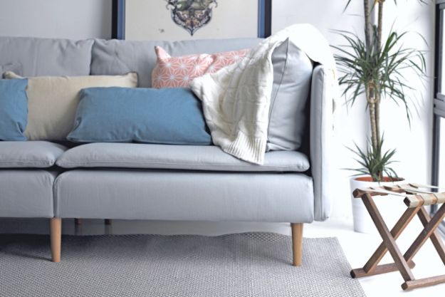 DIY Midcentury Modern Decor Ideas - Mid-Century Sofa Legs for your IKEA Sofa - DYI Mid Centurty Modern Furniture and Home Decorations - Chairs, Sofa, Wall Art , Shelves, Bedroom and Living Room