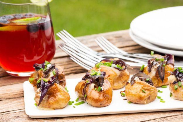 Potluck Recipe Ideas - Mini Baked Potatoes - Easy Recipes to Take To Potlucks - Dinner Casseroles, Salads, One Pot Meals, Pasta Dishes, Quick Crockpot Recipes