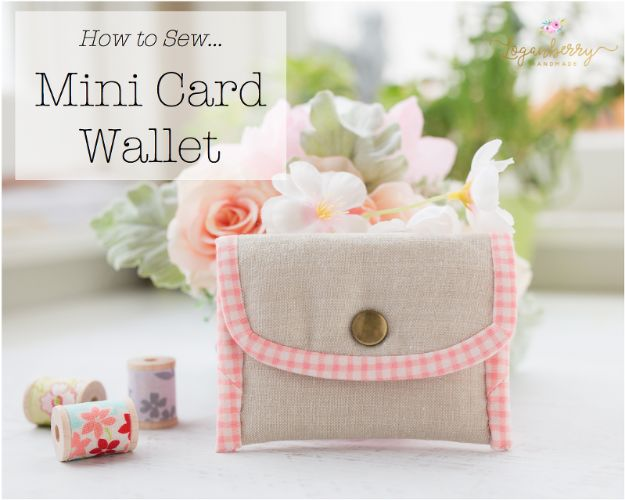 DIY Wallets - Mini Card Wallet - Cool and Easy DIY Wallet Ideas - Fabric, Duct Tape and Leather Crafts - Tutorial and Instructions for Making A Wallet - Cheap DIY Gifts
