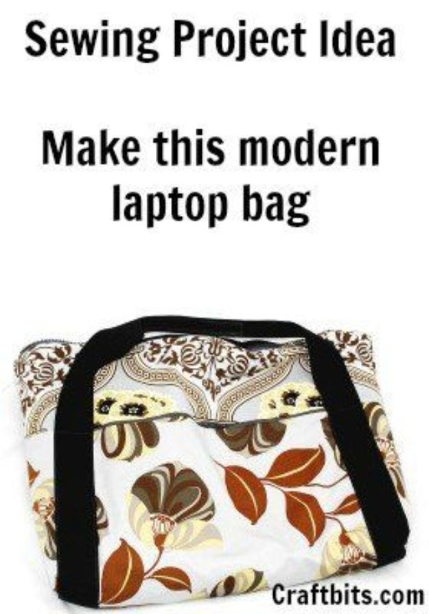 DIY Laptop Bags - Modern Laptop Bag - Easy Bag Projects to Make For Your Computer - Cool and Cheap Homemade Messnger Bags, Cases for Laptops - Shoulder Bag and Briefcase, Backpack