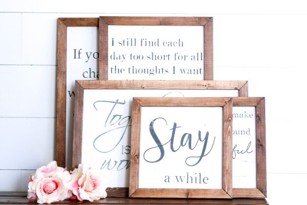 DIY Signs To Make For Your Home | New Farmhouse Style Wood Signs - Rustic Wall Art Ideas and Homemade Sign for Bedroom, Kitchen, Farmhouse Decor | Stencil Pallet and Distressed Vintage
