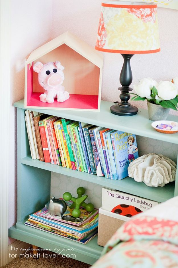 DIY Bookshelf Ideas - Old Bookcase into Nightstand - DYI Bookshelves and Projects - How to Make A Bookcase for Nightstand - Easy Room Decor Ideas