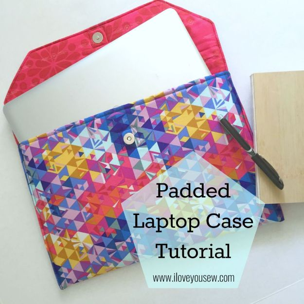 DIY Laptop Bags - Padded Laptop Case - Easy Bag Projects to Make For Your Computer - Cool and Cheap Homemade Messnger Bags, Cases for Laptops - Shoulder Bag and Briefcase, Backpack