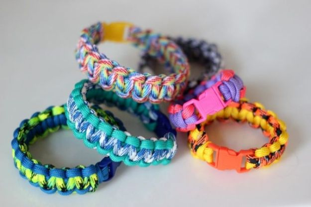DIY Paracord Bracelet Ideas - Paracord Bracelets For Kids - Tutorials for Easy Woven Paracord Bracelets | Survival and Stitched Patterns With Instructions and How To