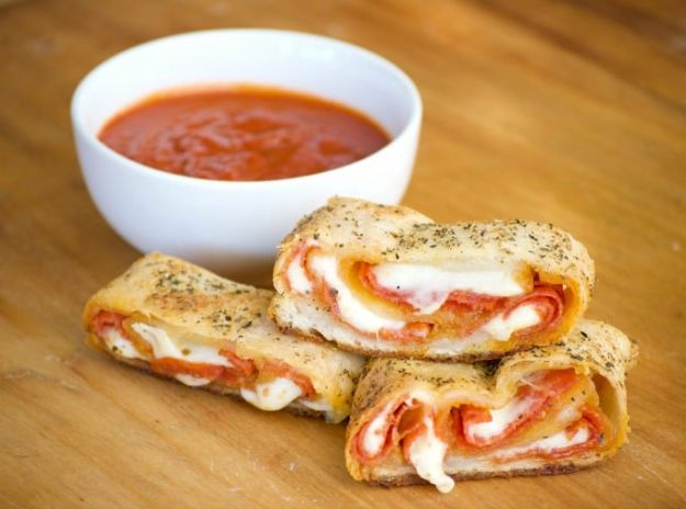 Potluck Recipe Ideas - Pepperoni Bread - Easy Recipes to Take To Potlucks - Dinner Casseroles, Salads, One Pot Meals, Pasta Dishes, Quick Crockpot Recipes