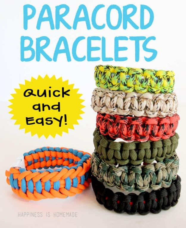 DIY Paracord Bracelet Ideas - Quick and Easy Survival Paracord Bracelets - Tutorials for Easy Woven Paracord Bracelets | Survival and Stitched Patterns With Instructions and How To