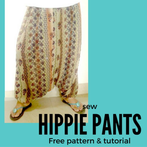 DIY Boho Clothes and Jewelry - Sew a Bohemian Hippie Pants - How to Make Easy Boho Fashion On A Budget - Edgy Homemade Hippe Clothing Ideas for Summer, Winter, Spring and Fall