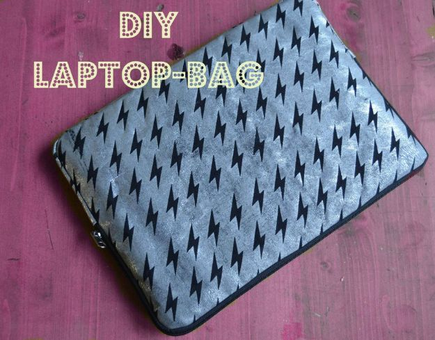 DIY Laptop Bags - Sew a Laptop Bag - Easy Bag Projects to Make For Your Computer - Cool and Cheap Homemade Messnger Bags, Cases for Laptops - Shoulder Bag and Briefcase, Backpack