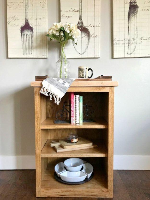 DIY Bookshelf Ideas - Simple Little DIY Bookshelf - DYI Bookshelves and Projects - Easy and Cheap Home Decor Idea for Bedroom, Living Room - Step by Step tutorial #diy #diyideas #diydecor #homedecor