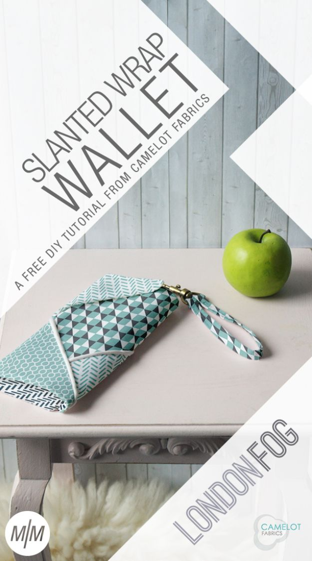 DIY Wallets - Slanted Wrap Wallet - Cool and Easy DIY Wallet Ideas - Fabric, Duct Tape and Leather Crafts - Tutorial and Instructions for Making A Wallet - Cheap DIY Gifts