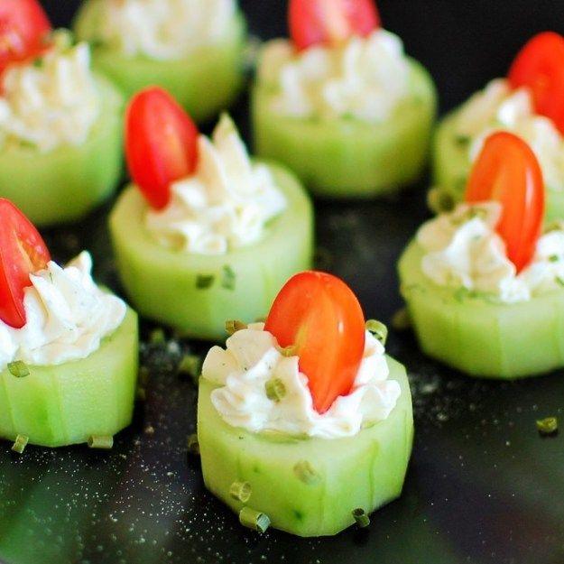 Potluck Recipe Ideas - Stuffed Cucumber Bites - Easy Recipes to Take To Potlucks - Dinner Casseroles, Salads, One Pot Meals, Pasta Dishes, Quick Crockpot Recipes