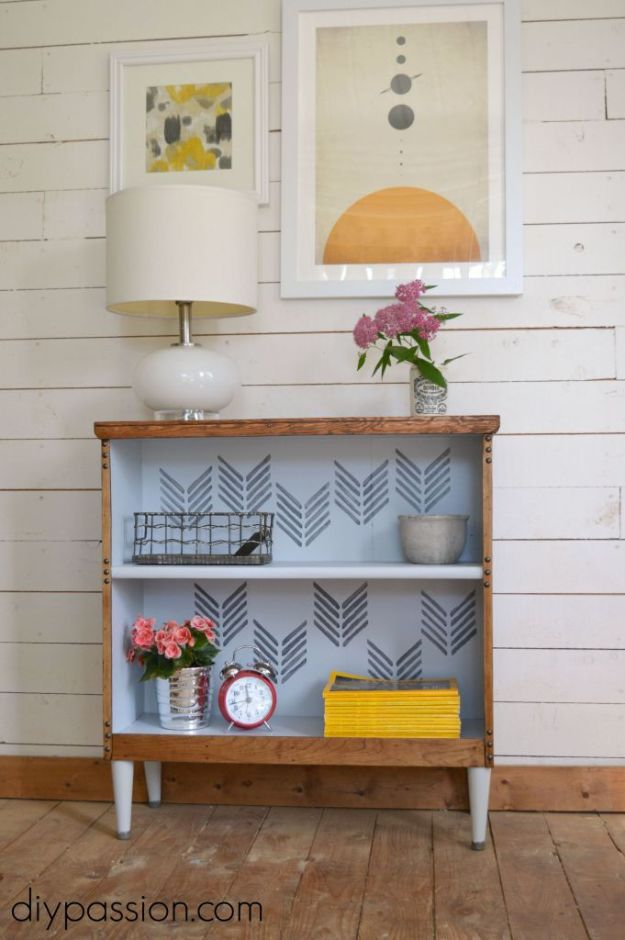 DIY Bookshelf Ideas - Thrifted Bookshelf Rescue - DYI Bookshelves and Projects - Easy and Cheap Home Decor Idea for Bedroom, Living Room - Step by Step tutorial #diy #diyideas #diydecor #homedecor