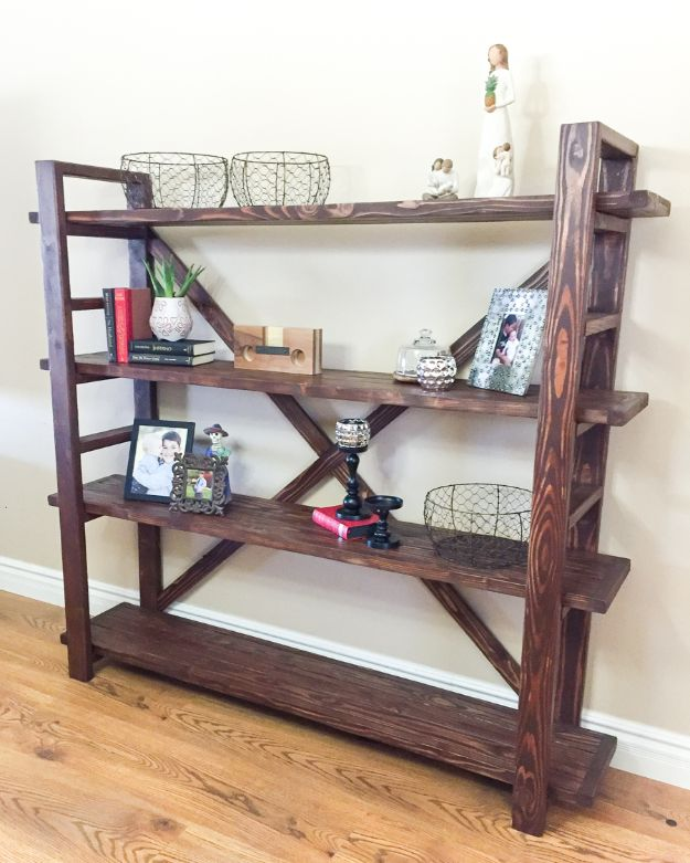 DIY Bookshelves - Toscana Bookshelf - Easy Book Shelf Ideas to Build for Cheap Home Decor - Tutorials and Plans, Best IKEA Hacks, Rustic Farmhouse and Mid Century Modern