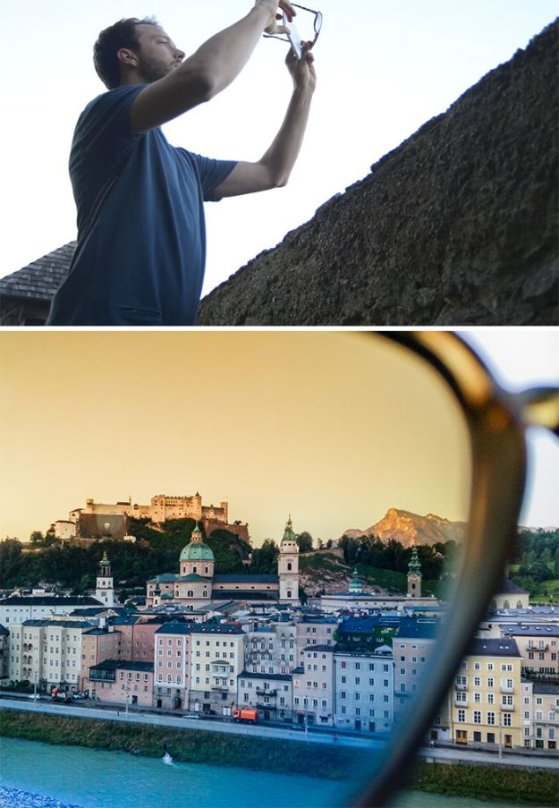 DIY Photography Hacks - Use Your Sunglasses As A Filter - Easy Ways to Make Photo Equipment and Props | Photo and Lighting, Backdrops | Projects for Shooting Best Photos