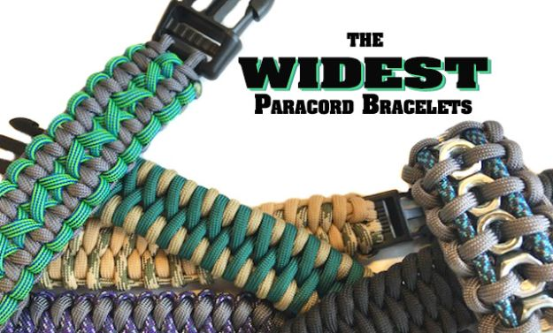 DIY Paracord Bracelet Ideas - Widest Paracord Bracelets - Tutorials for Easy Woven Paracord Bracelets | Survival and Stitched Patterns With Instructions and How To