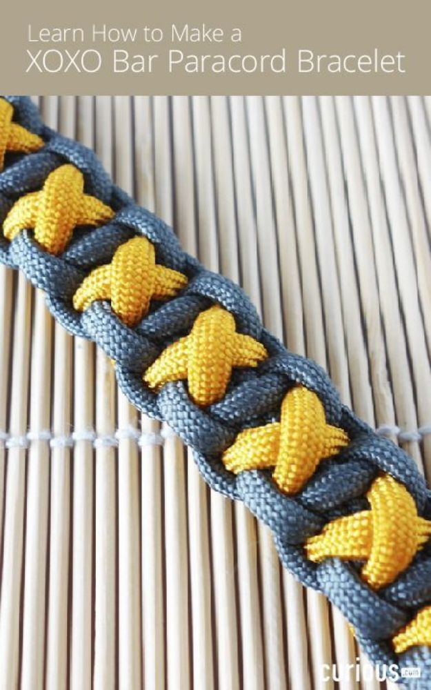 DIY Paracord Bracelet Ideas - XOXO Bar Paracord Bracelet - Tutorials for Easy Woven Paracord Bracelets | Survival and Stitched Patterns With Instructions and How To