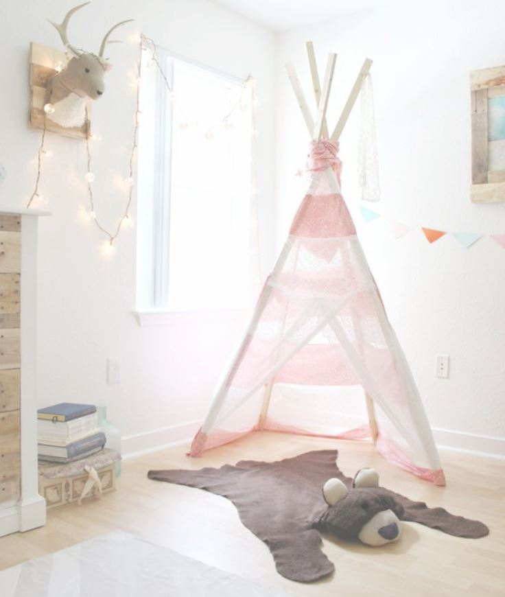DIY Nursery Decor Ideas for Girls - DIY Bear Rug - Cute Pink Room Decorations for Baby Girl - Crib Bedding, Changing Table, Organization Idea, Furniture and Easy Wall Art