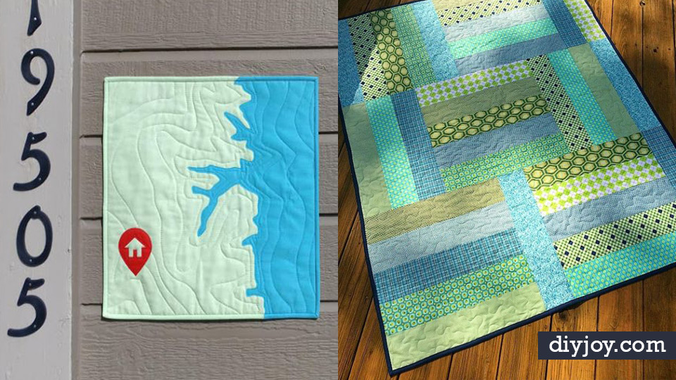 Easy Quilt Ideas for Beginners - Free Quilt Patterns and Simple Projects With Fat Quarters - How to Make Baby Blankets, Table Runners, Jelly Rolls