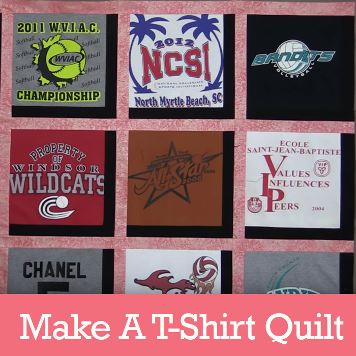 How to Make A T-Shirt Quilt Tutorial