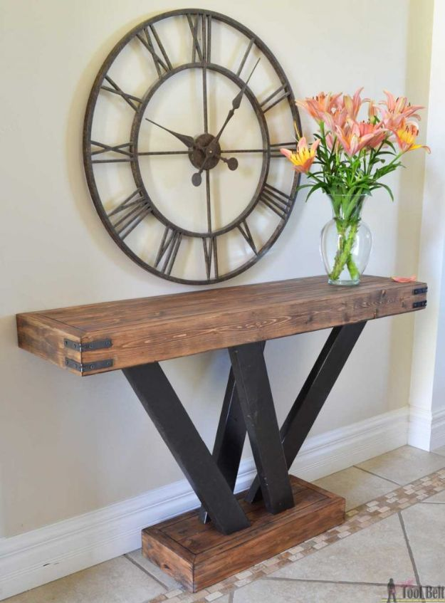 Easy Woodworking Projects - 2×4 Console Table - Cool DIY Wood Projects for Beginners - Easy Project Ideas and Plans for Homemade Gifts and Decor