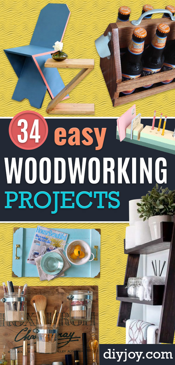 Easy Woodworking Projects - Cool DIY Wood Projects for Beginners - Easy Project Ideas and Plans for Homemade Gifts and Decor