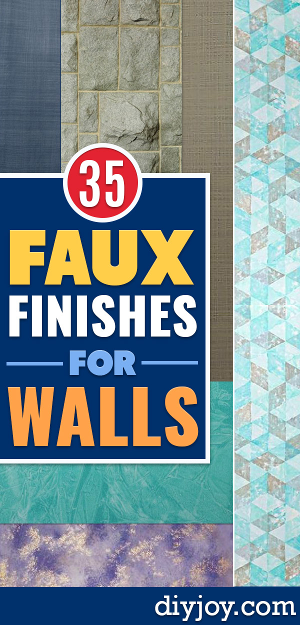 DIY Faux Finishes for Walls - Step by Step Tutorials for Do It Yourself Faux Finish Wall Textures - Rustic, Colour, Tuscan Style, Simple Metallic, Sponge Painting Techniques, Roller and Drag Texture