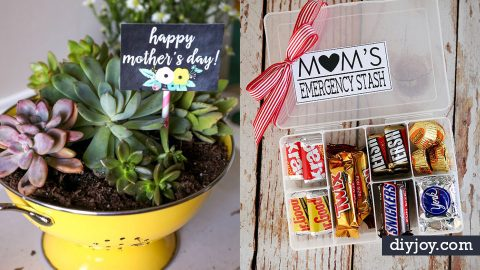 35 Cheap DIY Mothers Day's Day Gifts | DIY Joy Projects and Crafts Ideas