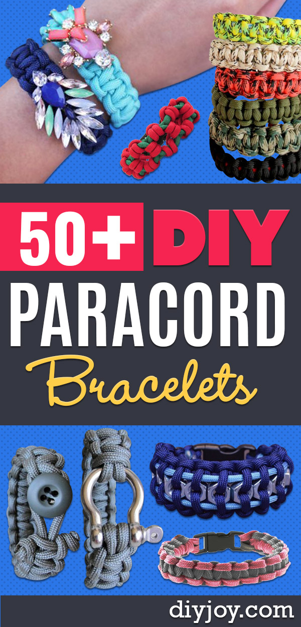 DIY Paracord Bracelet Ideas - Tutorials for Easy Woven Paracord Bracelets   Survival and Stitched Patterns With Instructions and How To