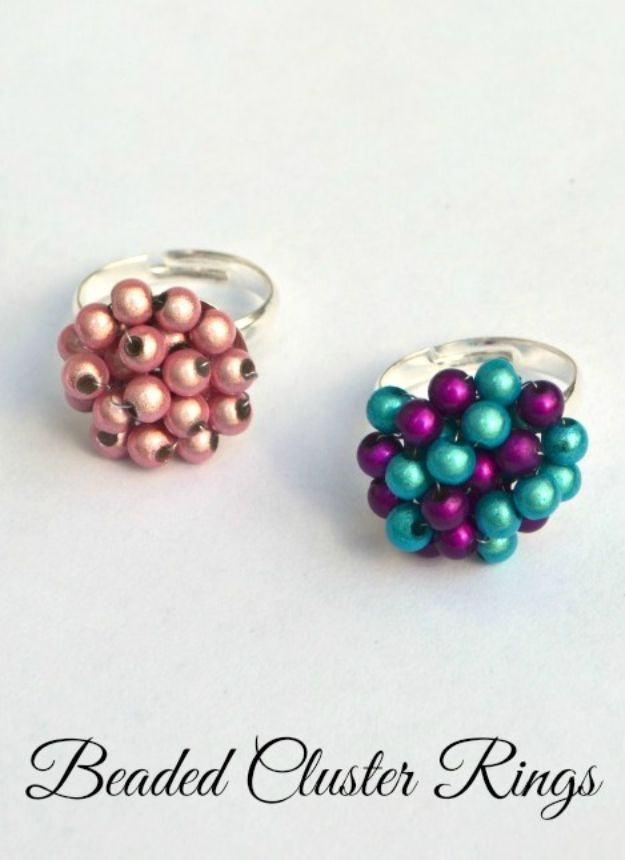 Cheap Mothers Day Gifts - Beaded Cluster Rings - Homemade Presents and Gift Ideas for Mom - Cute and Easy Things to Make For Mother