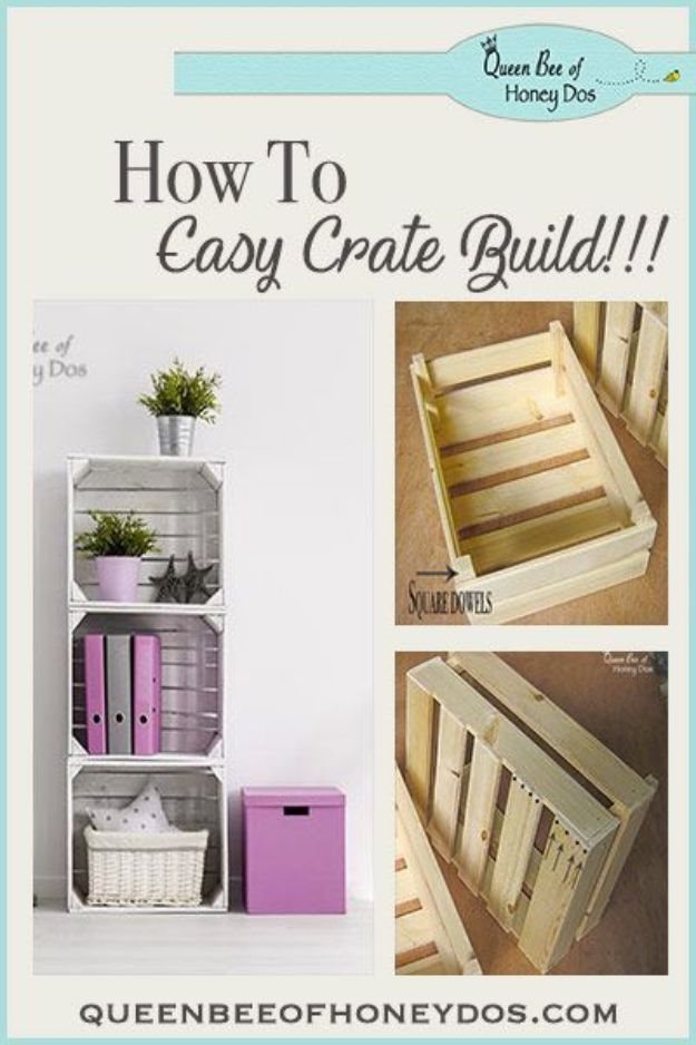 Easy Woodworking Projects - Build Simple Crates - Cool DIY Wood Projects for Beginners - Easy Project Ideas and Plans for Homemade Gifts and Decor