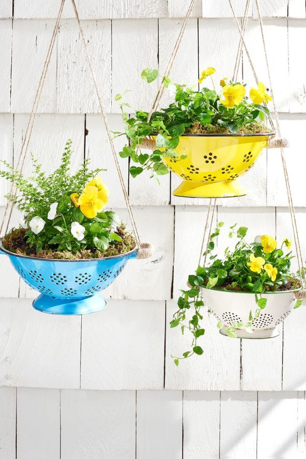 Cheap Mothers Day Gifts - Convert a Colander Into a Planter - Homemade Presents and Gift Ideas for Mom - Cute and Easy Things to Make For Mother
