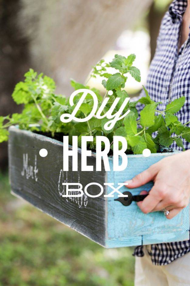 Cheap Mothers Day Gifts - DIY Herb Box - Homemade Presents and Gift Ideas for Mom - Cute and Easy Things to Make For Mother