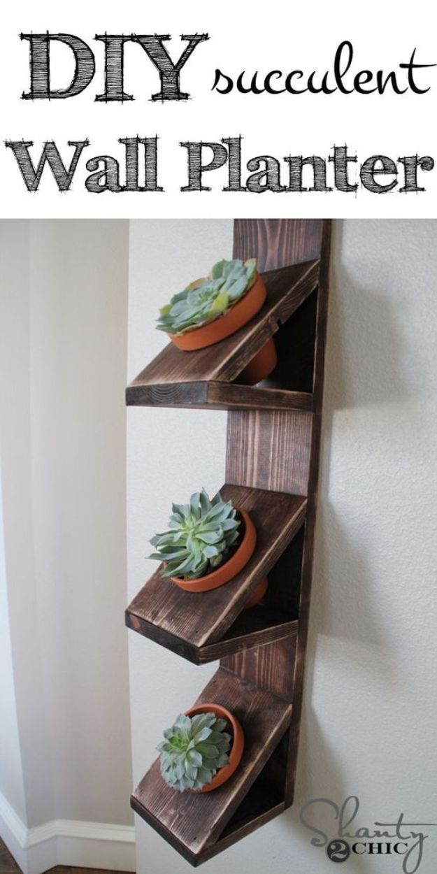Easy Woodworking Projects - DIY Wall Planter - Cool DIY Wood Projects for Beginners - Easy Project Ideas and Plans for Homemade Gifts and Decor