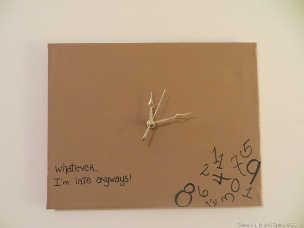 DIY Clocks - DIY Whatever I'm Late Anyways Clock - Easy and Cheap Home Decor Ideas and Crafts for Wall Clock - Cool Bedroom and Living Room Decor, Farmhouse and Modern