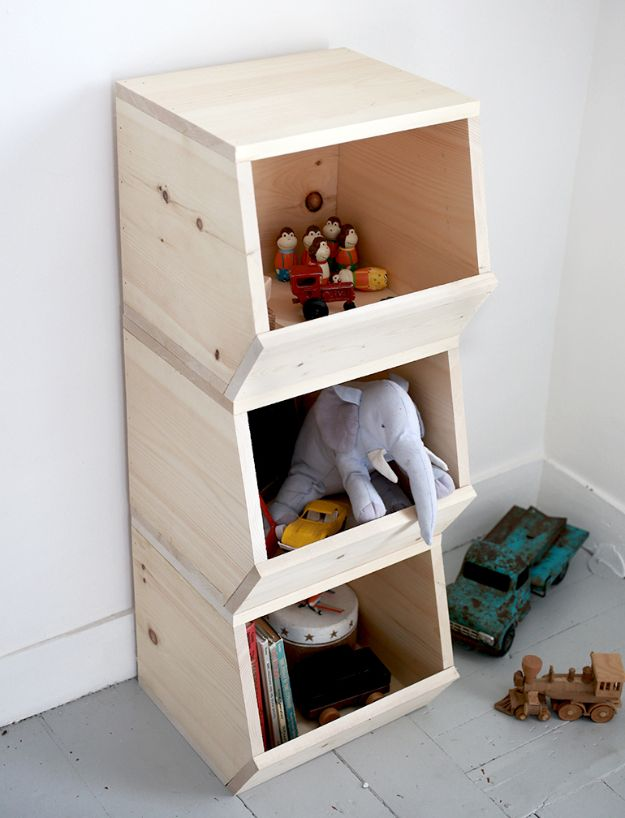 Easy Woodworking Projects - DIY Wooden Toy Bins - Cool DIY Wood Projects for Beginners - Easy Project Ideas and Plans for Homemade Gifts and Decor