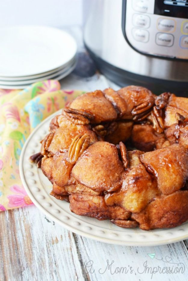Instant Pot Desserts - Easy Instant Pot Monkey Bread - Easy Dessert Ideas to Make in Your Instant Pot - Quick Cheesecake, Brownies, Cake - Healthy Idea With Fruit, Gluten Free