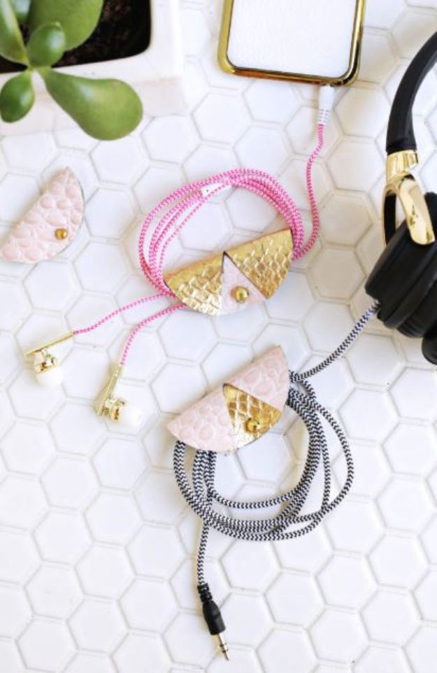 Cheap Mothers Day Gifts - Easy Leather Cord Keeper - Homemade Presents and Gift Ideas for Mom - Cute and Easy Things to Make For Mother